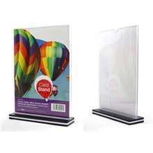 Card Stand A4 Size Acrylic Holder Display Information Stand