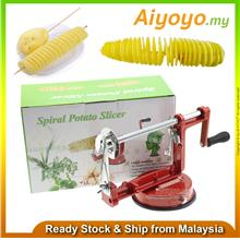 3 String Spiral Potato Slicer Machine Rotate Twisted Twister Slice Cutter Chip