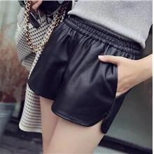 DM23 PU Leather Casual Short Pants