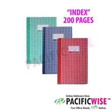 Hard Cover Book Foolscap 200 pg Index