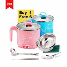 1.8Litre Multi Function Electric Travelling Steamboat Cooker buy 1 fre