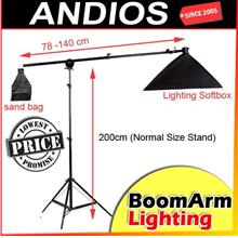Studio Photography Lighting BOOM ARM KIT Set_Softbox_Stand