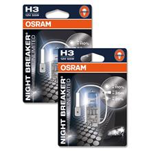 GENUINE Osram Night Breaker Unlimited H3 Halogen Bulb