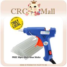 Mini Hot Glue Gun with 30 pcs Melt Glue Sticks Kit Flexible Trigger Te