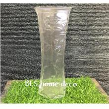 BLS8063 H 29CM GLASS VASE CONTAINER FLOWER DECORATION