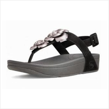 Fitflop Floretta -two flower (Black/Silver/Red)
