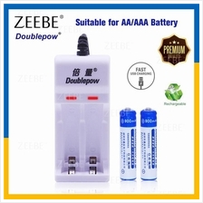 Doublepow USB Rechargeable 2 slot AA/AAA Battery Charger Adapter 2pcs