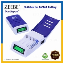 3PIN Rechargeable 4 slot AA/AAA Batteries Charger Adapter LED Screen