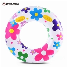 WINMAX INFLATABLE STYLISH SWIM TUBE SWIMMING RING FLOWER DESIGN (COLORFUL)