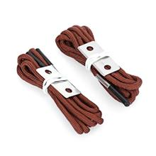PAIRED 145CM NYLON FLINT LACES WITH STRIKER PLATE (BROWN)