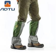 AOTU PAIRED SKIING HIKING LEG PROTECTIVE GUARD GAITERS (ARMY GREEN)