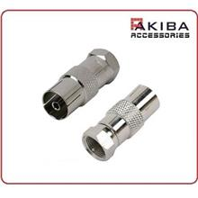 Antenna Adaptor Type F Connector Male to Female RF Coaxial (2pcs)