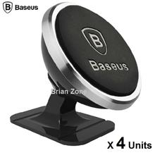 4 Units Baseus 360 Rotation Magnetic Car Mount Holder (Black)