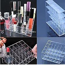 New 24 Trapezoid Clear Makeup Display Lipstick Case x 2