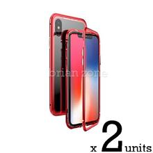 2x IPHONE 6 6S STRONG MAGNETIC ABSORBTION METAL CASE (Red)