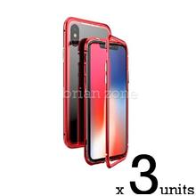 3x IPHONE 6 6S STRONG MAGNETIC ABSORBTION METAL CASE (Red)