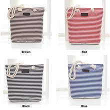 BBD Canvas Striped Hemp Rope Handle Shoulder Bag BG3525