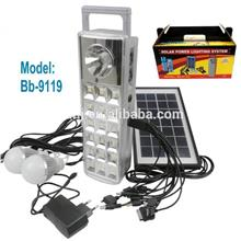 Solar power lighting system with USB