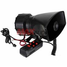 5 Tone Sound Car Vehicle Siren Horn with Microphone PA Speaker System