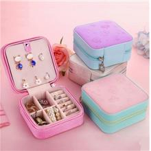 Jewellery Jewelry Display Storage Box Portable Zip Type 3D Surface