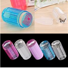 DIY Jelly Nail Art Stamping Clear Soft Silicone Stamper Scraper Plate ..