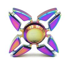 Colorful Quadri-Spinner Reducing Stress Anxiety Enhancing Finger Flexi
