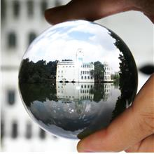 100mm Clear Round Glass Artificial Crystal Healing Ball Sphere Decorat..