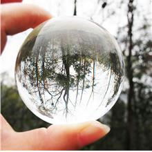 60mm Clear Round Glass Artificial Crystal Healing Ball Sphere Decorati..