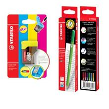 Stabilo Exam Grade 2B Writing Pencil with Colorful Sharpener)