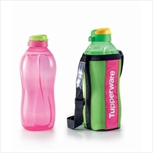 Tupperware The Giant Eco Bottle (2) 2.0L-Pink  & Green + Pouch (1)