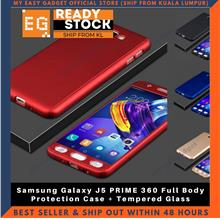 Samsung Galaxy J5 PRIME 360 Full Body Protection Case + Tempered Glass