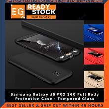 Samsung Galaxy J5 PRO 360 Full Body Protection Case + Tempered Glass