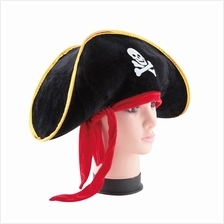 Pirate Captain Hat Skull Crossbone Cap Costume Fancy Dress Party Hallo..