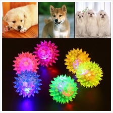 Dog Puppy Cat Pet Hedgehog Ball Rubber Bell Sound Ball Fun Playing Toy