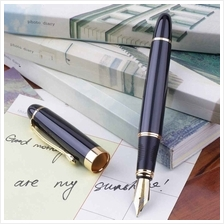 Jinhao X450 Fountain Pen Black Mordern Medium Nib Gold Trim New Perfec..