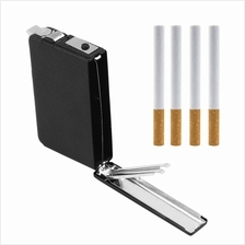 2 in 1 Cigarette Case Box Holder Windproof Flame Fire Gas Refillable L..