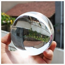80mm Clear Round Glass Artificial Crystal Healing Ball Sphere Decorati..