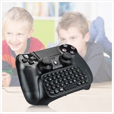 3.5mm Plug Black Mini Wireless Chatpad Message Keyboard for PS4 Contro..