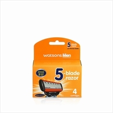 WATSONS Men 5Blade Razor Refill 4 Cartridges)