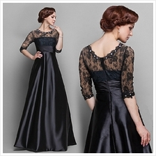 European Lace Stitching Diamond High Waist Dress [Pre-Order]	WYF-7147