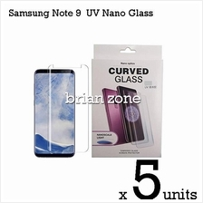 5x NANO LIQUID FULL GLUE UV LIGHT ADHENSIVE SAMSUNG NOTE 9 TEMPERED GL