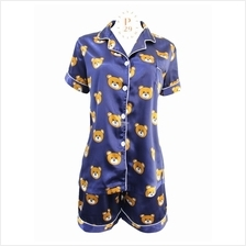 CUTE BEAR SOFT SILK SLEEPWEAR