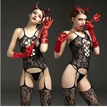 RIMES SEXY BODY STOCKING CATSUIT 521D Sexy Lingerie Women Baju