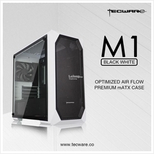 # TECWARE M1 Tempered Glass White mATX Gaming Case #