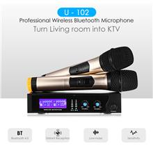 U - 102 Professional Wireless Microphone 1 for 2 Home KTV Suits