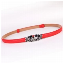 Retro Rose Thin Belt
