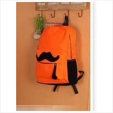 Lovely Moustache Backpack (Orange)