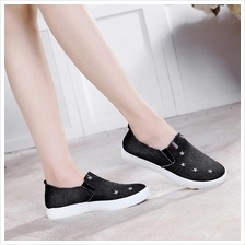 Korea Style Jean Comfortable Pump Shoes (Black)