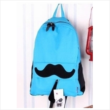 Lovely Moustache Backpack (Lake Blue)