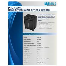 PRIMUS HOME OFFICE / SMALL OFFICE SHREDDER (PRS-1525C)